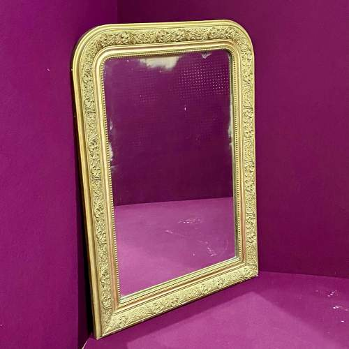 19th Century French Gilt Gesso Over Mantel Mirror image-1