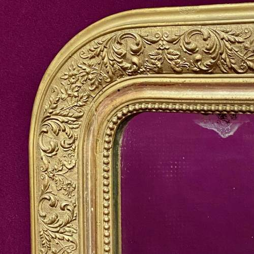 19th Century French Gilt Gesso Over Mantel Mirror image-2