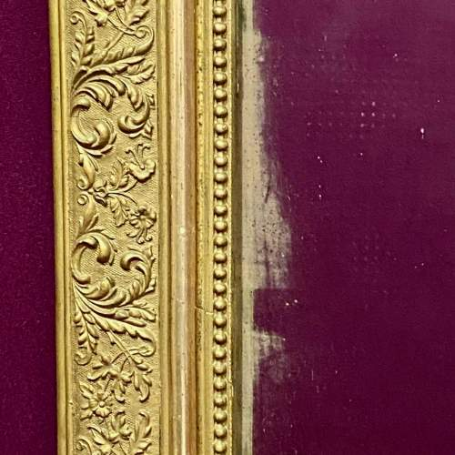19th Century French Gilt Gesso Over Mantel Mirror image-3