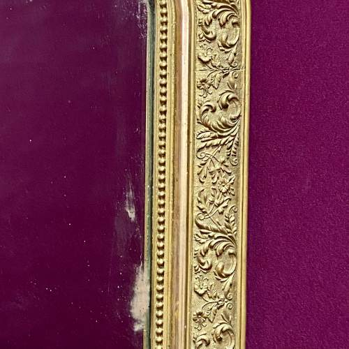 19th Century French Gilt Gesso Over Mantel Mirror image-4