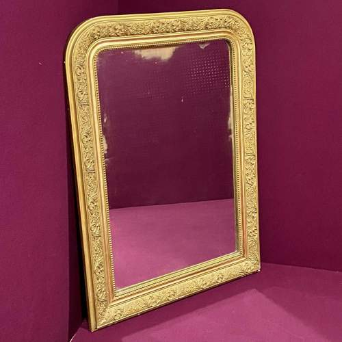 19th Century French Gilt Gesso Over Mantel Mirror image-6