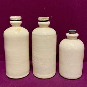 Set of Three 19th Century Veterinary Storage Bottles