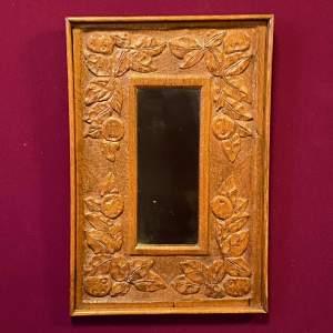 Arts and Crafts Oak Framed Mirror