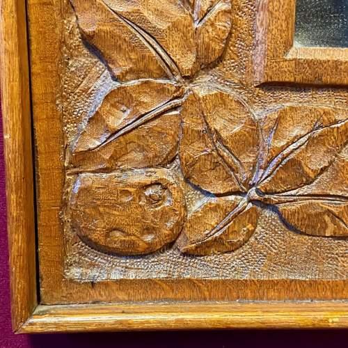 Arts and Crafts Oak Framed Mirror image-3