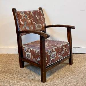 19th Century Oak Childs Low Chair