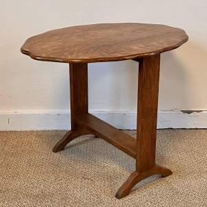 Edwardian Oak Tilt Top Low Side Table