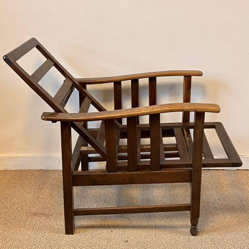 Early 20th Century Large Reclining Chair image-3