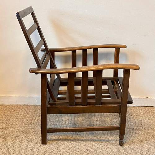 Early 20th Century Large Reclining Chair image-2