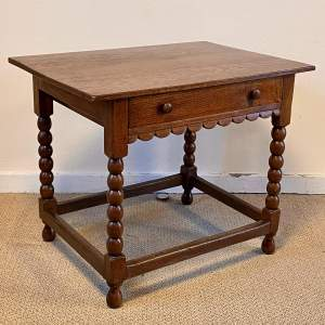 20th Century Country Style Oak Side Table with Drawer