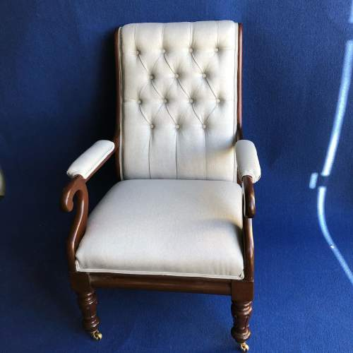 William IV Upholstered Armchair image-1
