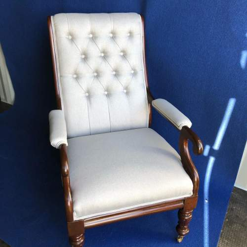 William IV Upholstered Armchair image-2