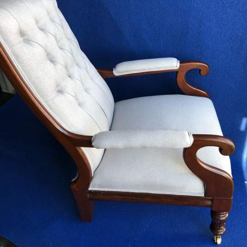 William IV Upholstered Armchair image-3
