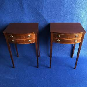 Pair of Edwardian Inlaid Mahogany Bedside Cabinets