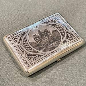 Early 20th Century Russian Silver and Niello Case