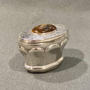 Scottish Silver and Hardstone Snuff Mull