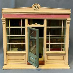 Miniature Model of a Bookshop with Faux and Real Books