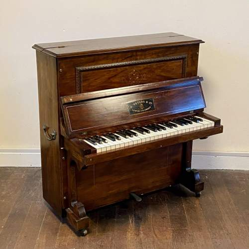 Fantastic Very Rare Miniature Walnut Piano by H Peters and Co image-1