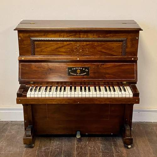Fantastic Very Rare Miniature Walnut Piano by H Peters and Co image-2