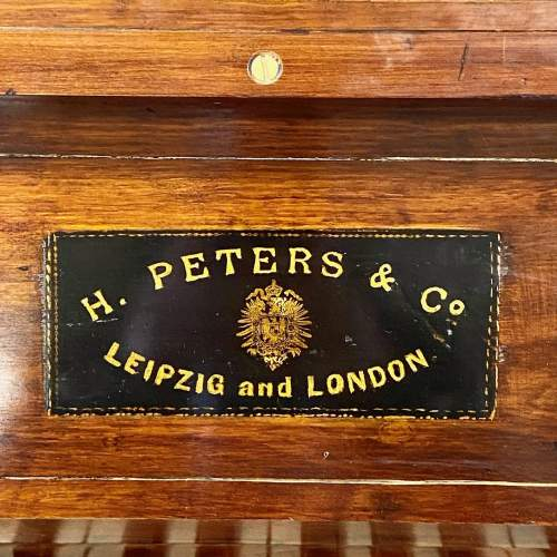Fantastic Very Rare Miniature Walnut Piano by H Peters and Co image-3