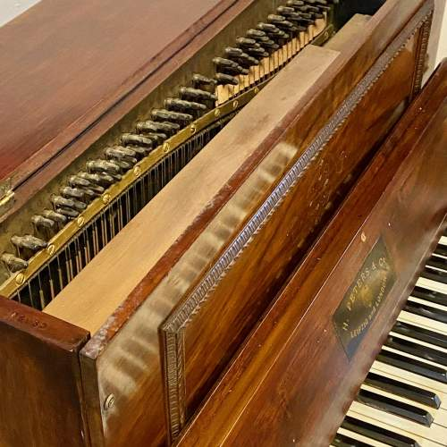 Fantastic Very Rare Miniature Walnut Piano by H Peters and Co image-4