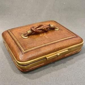 Victorian Leather Concertina Jewellery Case