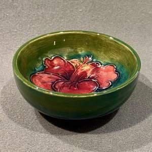 Moorcroft Hibiscus Pattern Bowl