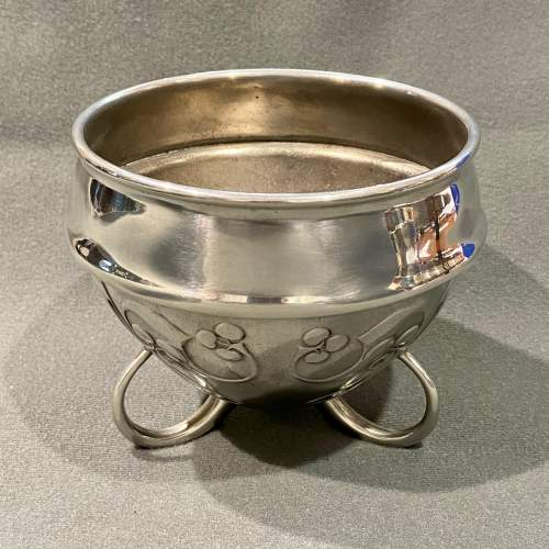 Liberty and Co Archibald Knox Pewter Flower Bowl image-1