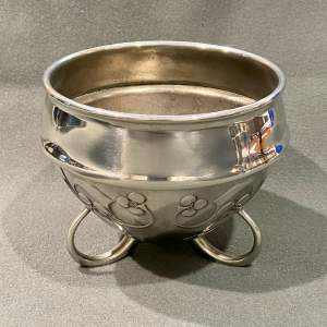 Liberty and Co Archibald Knox Pewter Flower Bowl