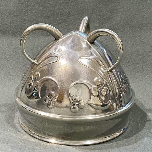 Liberty and Co Archibald Knox Pewter Flower Bowl image-3