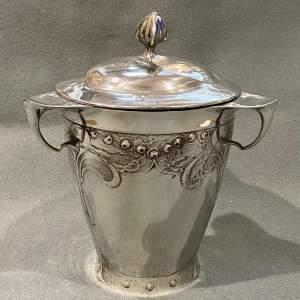 Art Nouveau Kayserzinn Pewter Biscuit Jar