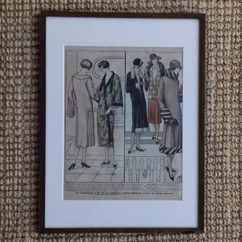 Original Left Centre Page of Le Petit Echo de la Mode 1926 image-1