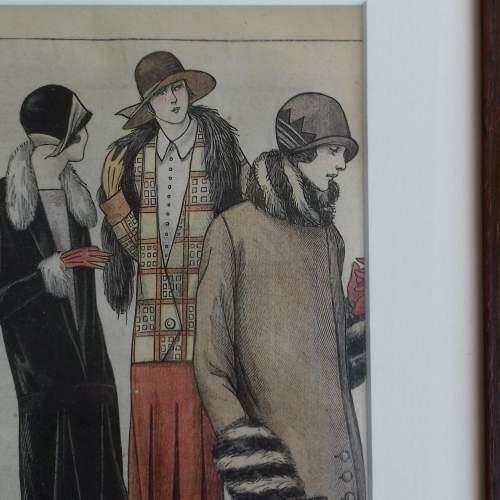 Original Left Centre Page of Le Petit Echo de la Mode 1926 image-2