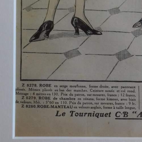 Original Left Centre Page of Le Petit Echo de la Mode 1926 image-4