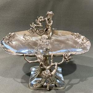 Art Nouveau WMF Pewter Fruit Stand