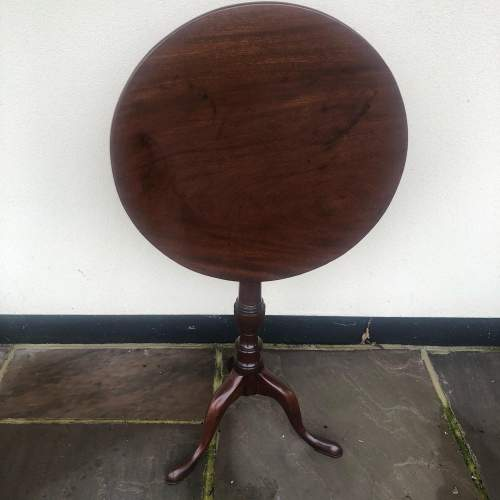 George III Mahogany Occasional Table image-1