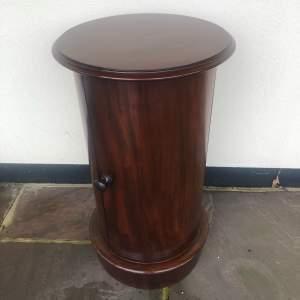 Victorian Mahogany Circular Pedestal Cupboard