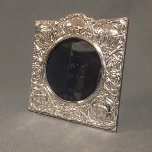 Silver Photo Frame with Cherubs