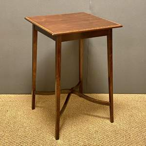 Edwardian Inlaid Mahogany Square Occasional Table