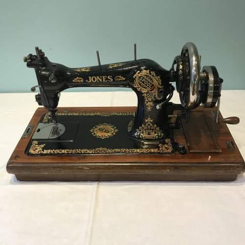 Decorative Jones Spool Cast Iron Sewing Machine circa 1900 image-1