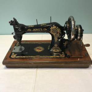 Decorative Jones Spool Cast Iron Sewing Machine circa 1900