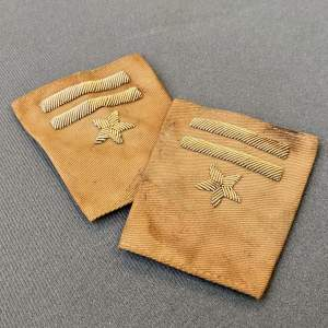 Pair of WWII Free Forces Polish Officers Slides