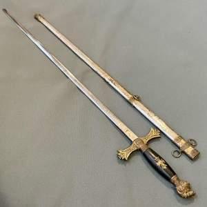 Early 20th Century American Masonic Ceremonial Sword