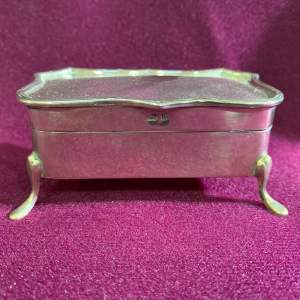 Early 20th Century Silver Trinket Box