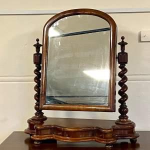 Victorian Mahogany Dressing Mirror