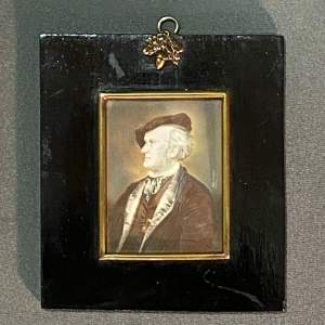 19th Century Small Painted Portrait signed Zinner