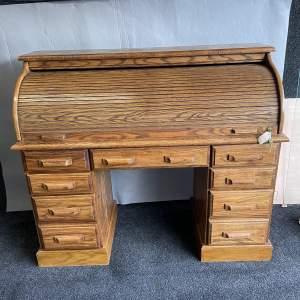 20th Century Oak Roll Top Desk