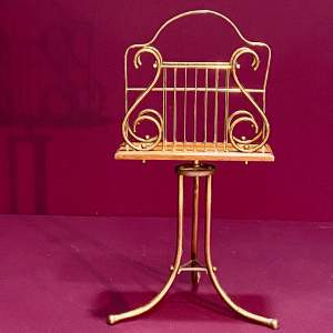 Edwardian Gilt Brass Music Stand