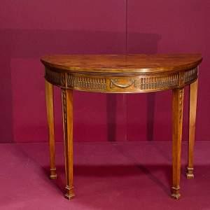 19th Century Mahogany Demi Lune Card Table