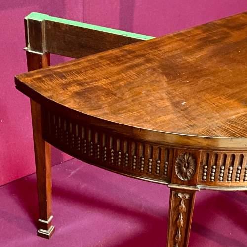 19th Century Mahogany Demi Lune Card Table image-2
