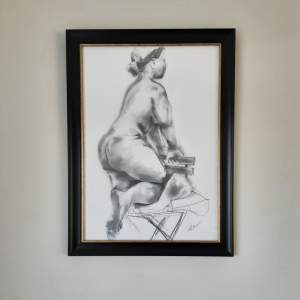 Original Graphite Life Study Drawing by Scottish artist Katherin